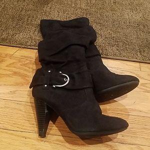 Apt.9 black suede boots size 6.5